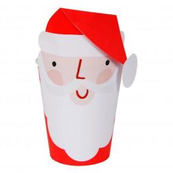 Pappbecher Santa 8 Stück