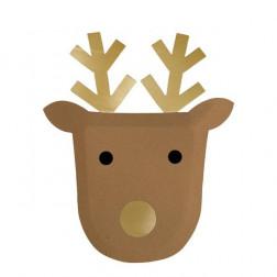 Pappteller Reindeer 8 Stück