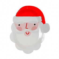 Pappteller Santa 12 Stück
