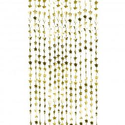 Lametta Sterne gold 1,2 x 2m