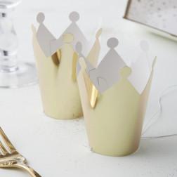 Mini Krone Gold 5 Stück