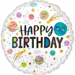 Folienballon Galaxy Happy Birthday 43cm