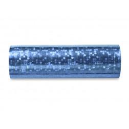 Luftschlangen Holographic blau 18 ringe
