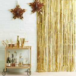 Lametta Vorthang Curtain Gold 91 x 245cm