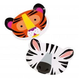 Pappteller Animal 12 Stück