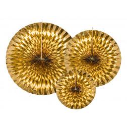 Fächer Gold 3 Stück