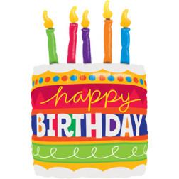 Folienballon Geburtstag Torte Happy Birthday 79cm
