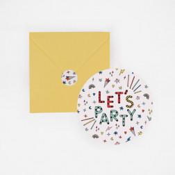 Einladungskarten Birthday 8 Stück