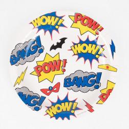 Pappteller Superhero 8 Stück