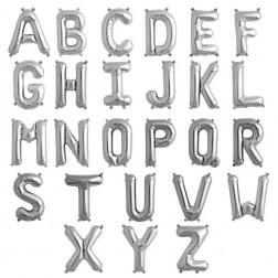 Buchstaben Folienballons von A bis Z silber